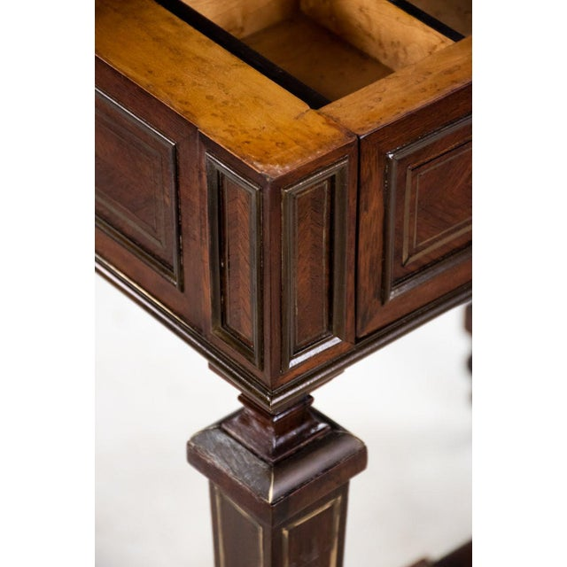 Louis Philippe Brass and Mother of Pearl Inlay Gentleman's Dressing Stand For Sale - Image 9 of 13