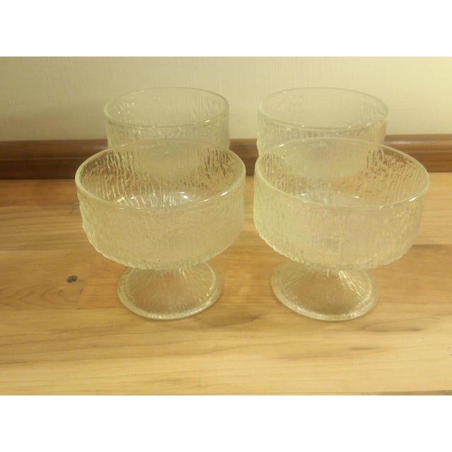 Indiana Glass Ice Design Footed Ice Cream Dishes - Set of 4 - Image 2 of 5