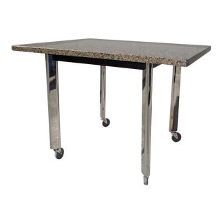 Knoll Studio 1982 Joe d'Urso Granite Top & Chrome Legs High Table For Sale