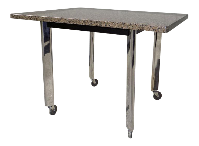 Knoll Studio 1982 Joe Du0027Urso Granite Top U0026 Chrome Legs High Table