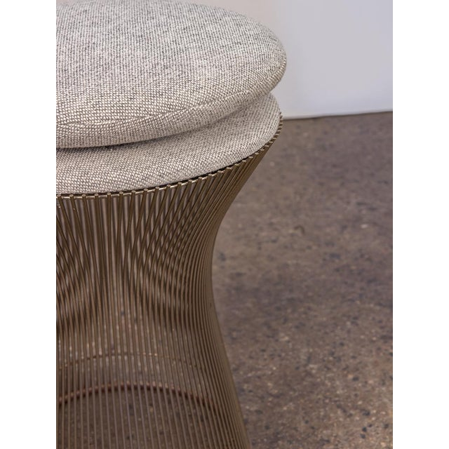Industrial Warren Platner Wire Stool for Knoll For Sale - Image 3 of 10