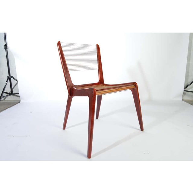 Postmodern Jacques Guillon Cord Chair For Sale - Image 3 of 8