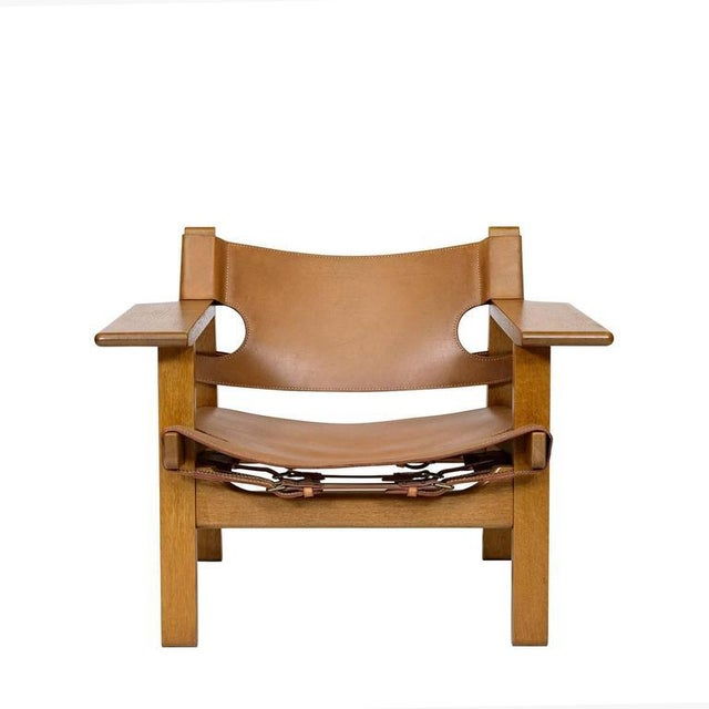"""Børge Mogensen """"Spanish"""" chair designed in 1958 and produced by Fredericia Stolefabrik. Mogensen was inspired by a Spanish..."""