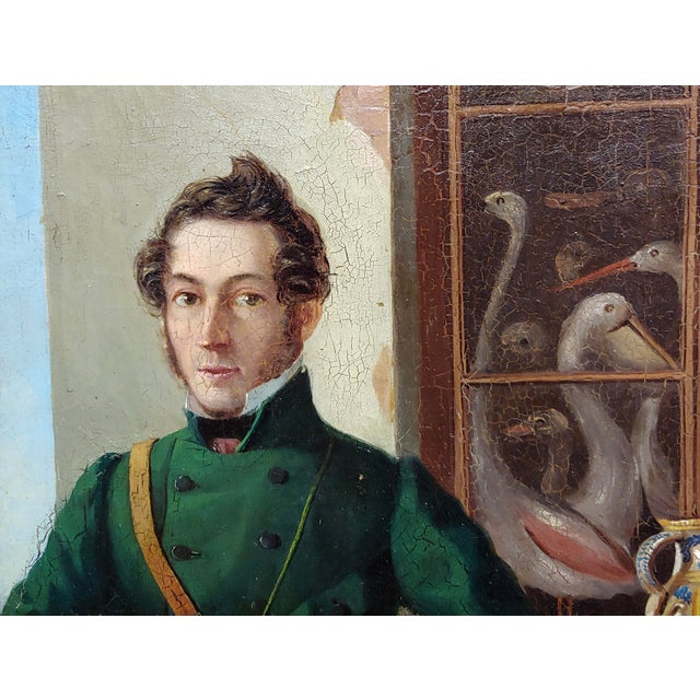 19th Century Portrait of a Hunter W/His Dog-19th Century Italian School-Oil Painting For Sale - Image 5 of 8