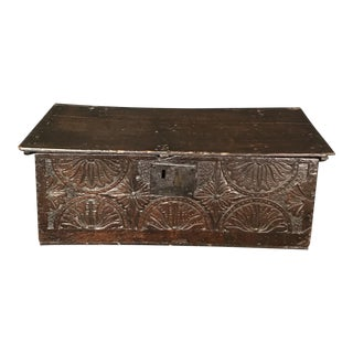 Ancient British 17th Century Bible Box For Sale