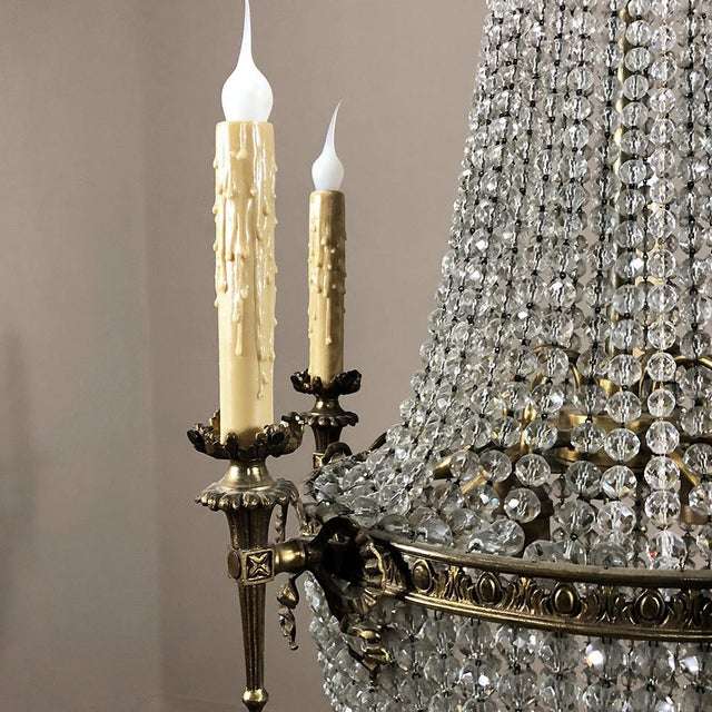 Antique Sack of Pearls Crystal Chandelier is a timeless way to add the ambiance of antique lighting to any room, with a...