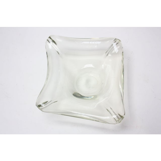 Glass Mid-Century Modern Blown-Glass Ashtray / Decorative Dish in Pale Green For Sale - Image 7 of 7