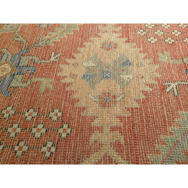 """Light Pink Late 1800s Turkish Oushak Runner- 3' 5"""" X 14' 5"""" For Sale - Image 8 of 13"""