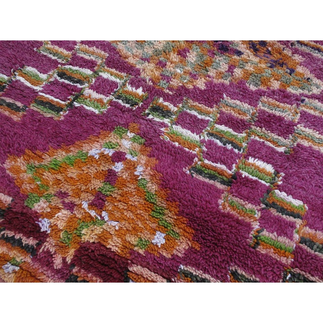 Moroccan Boujad Wool Rug - 6′3″ × 9′4″ For Sale - Image 4 of 8
