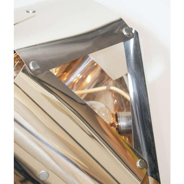 Chromed Metal Sculptural Table Lamp - Image 6 of 11