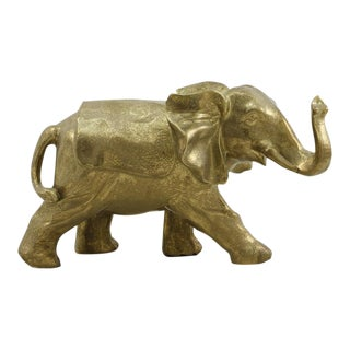 Gold Ceramic Elephant