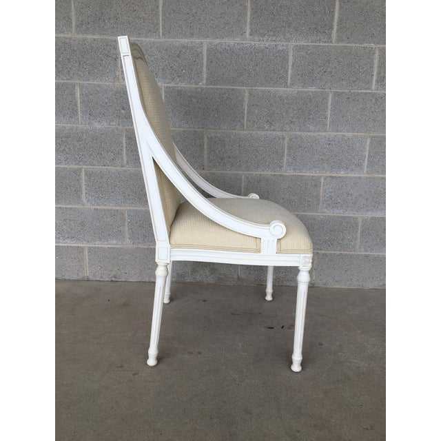 Early 21st Century Ej Victor Luxar Dining Arm Chairs - Set of 6 For Sale - Image 5 of 12