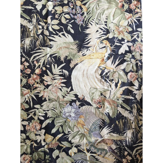 This insanely beautiful fabric was printed on a very heavy linen with the labor-intensive method of hand screening. This...