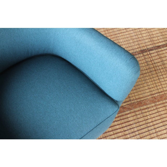 Dark Teal Armchair by Ernest Race, England, 1940s For Sale - Image 9 of 12