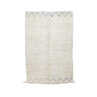 "Contemporary Beni Ourain Vintage Moroccan Rug - 7'3"" X 10'7"""