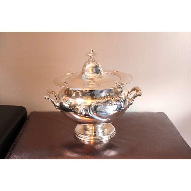 Art Nouveau Silver-Plate Tureen - Image 2 of 4