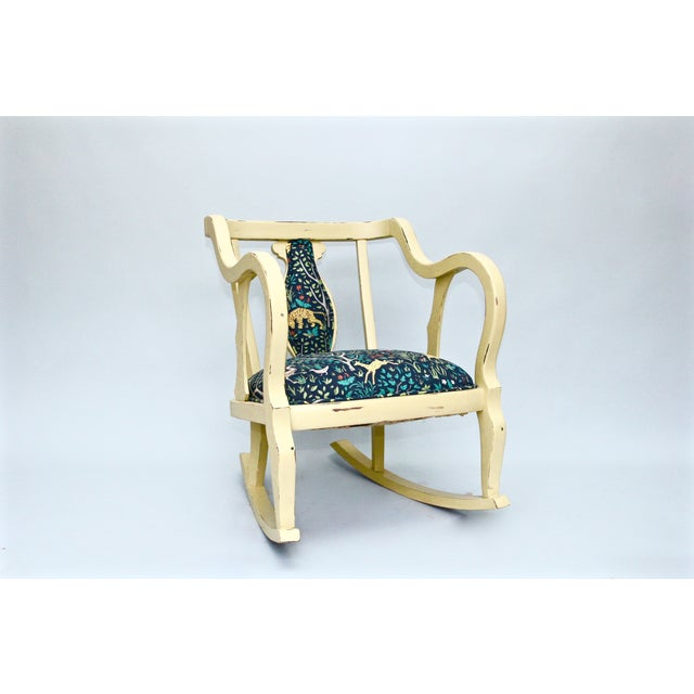 Vintage Upholstered Rocker - Image 2 of 3