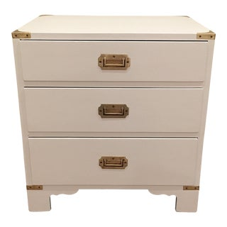 Mid-Century Modern Campaign Chest Night Stand For Sale