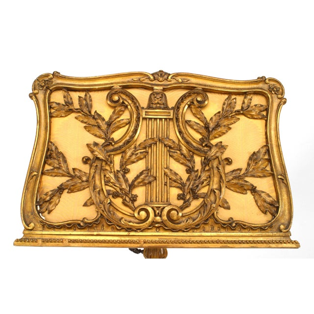 Shabby Chic French Louis XV Style '19th Century' Gilt Carved Duet Music Stand For Sale - Image 3 of 7