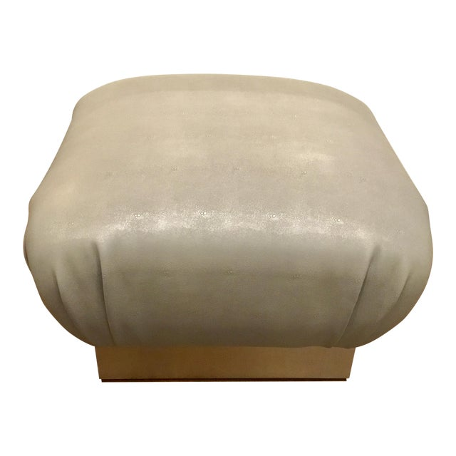Worlds Away Sydney Ottoman For Sale