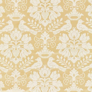 Scalamandre Love Bird Fabric in Beige Sample For Sale