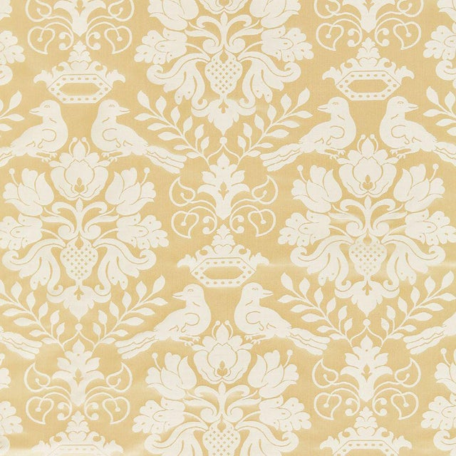 Scalamandre Love Bird Fabric in Beige Sample For Sale