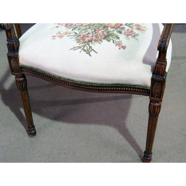 Set of 4 Adams Style Arm Chairs For Sale - Image 4 of 9