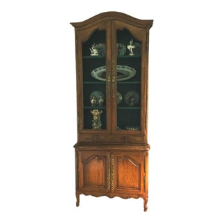 Vintage 1960s French Don Ruseau 2 Piece Walnut Cabinet For Sale