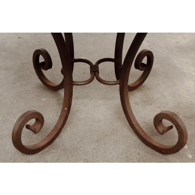 Wrought Iron and Copper Round Dining Table For Sale - Image 11 of 12