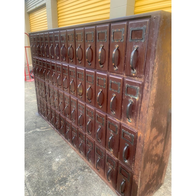 Mid 20th Century Vintage Industrial File Cabinet For Sale - Image 10 of 11