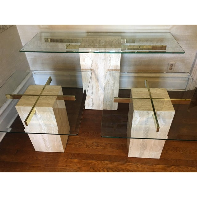 Mid-Century Travertine Side Tables - A Pair - Image 10 of 10