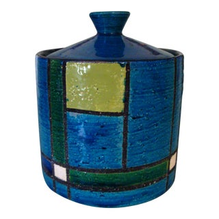 1960's Bitossi Mondrian Canister