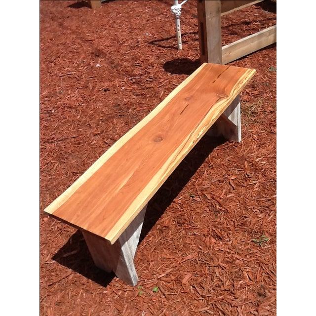 Rustic Red Cedar Bench - Image 5 of 5