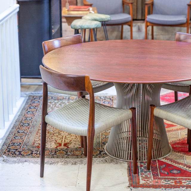 Mid-Century Modern Vintage Mid-Century Modern Rosewood Platner Dining Table For Sale - Image 3 of 6