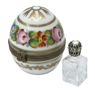 Limoges Egg Box With Perfume Bottle For Sale