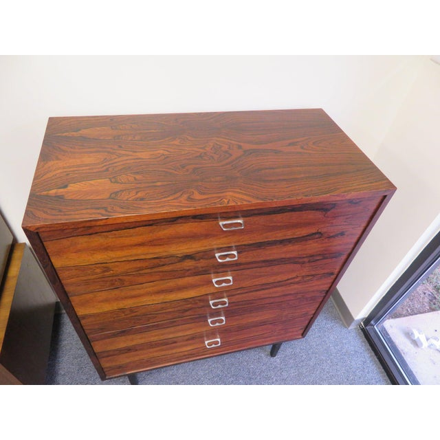 1970s Mid-Century Modern 6-Drawer Rosewood Highboy For Sale In Richmond - Image 6 of 13