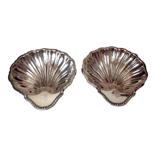 1940s English Silver Plated Bon Bonieres - a Pair For Sale