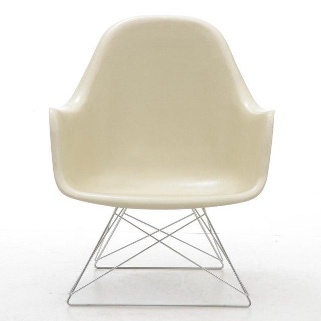 eames for herman miller white molded fiberglass chair chairish