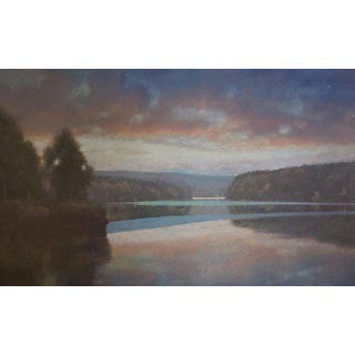 "Chris Burkholder ""Spring Lake"" Acrylic Painting For Sale"