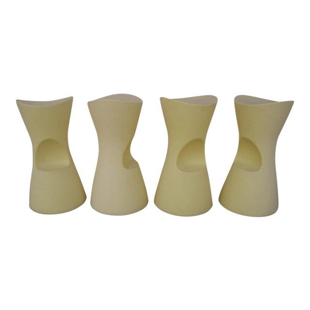 Yellow Skoop Stools by Karim Rashid - Set of 4 For Sale