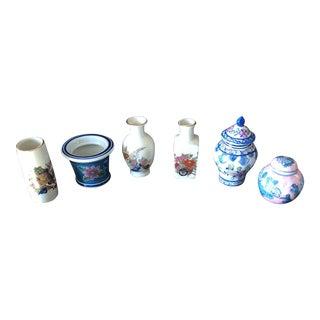 Vintage Ming Jar Vase Collection - Set of 6