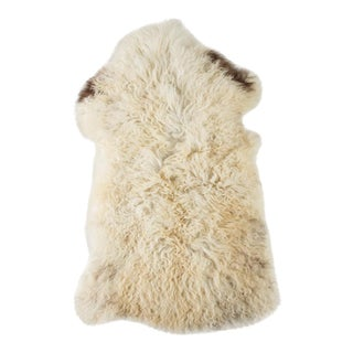 "Contemporary Long Wool Sheepskin Pelt/Handmade Rug - 1'11""x3'0"" For Sale"