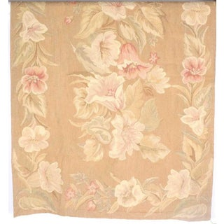 Vintage Floral Machine Made Tapestry For Sale