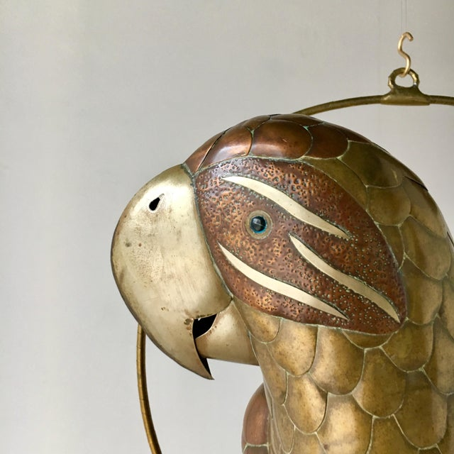 1960s Copper and Brass Parrot by Sergio Bustamante 1960s For Sale - Image 5 of 7