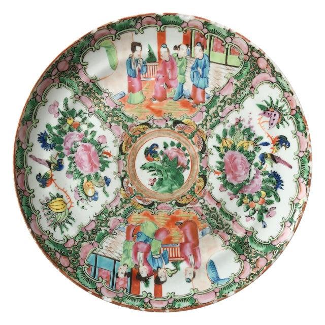 Rose Medallion Plate For Sale - Image 4 of 4