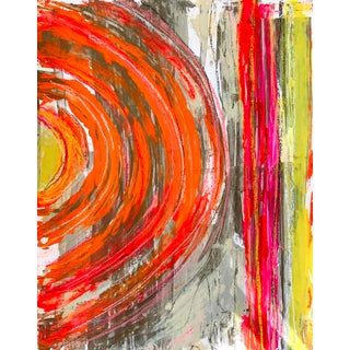 Contemporary Abstract Expressionist Mixed-Media Painting by Tony Marine For Sale