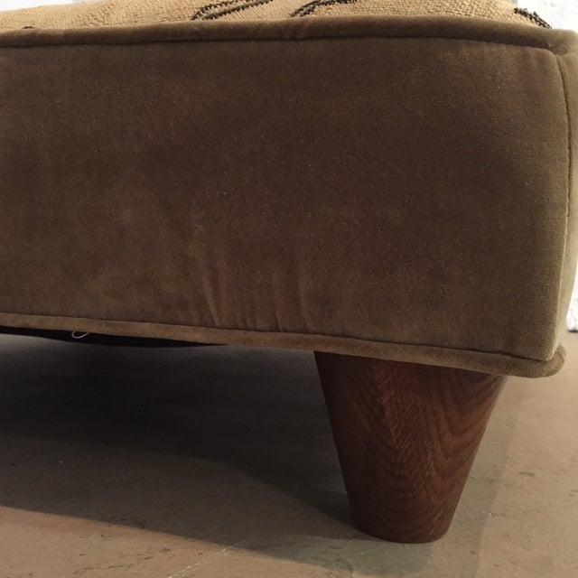 African Kuba Cloth Vintage Ottoman For Sale In Los Angeles - Image 6 of 7