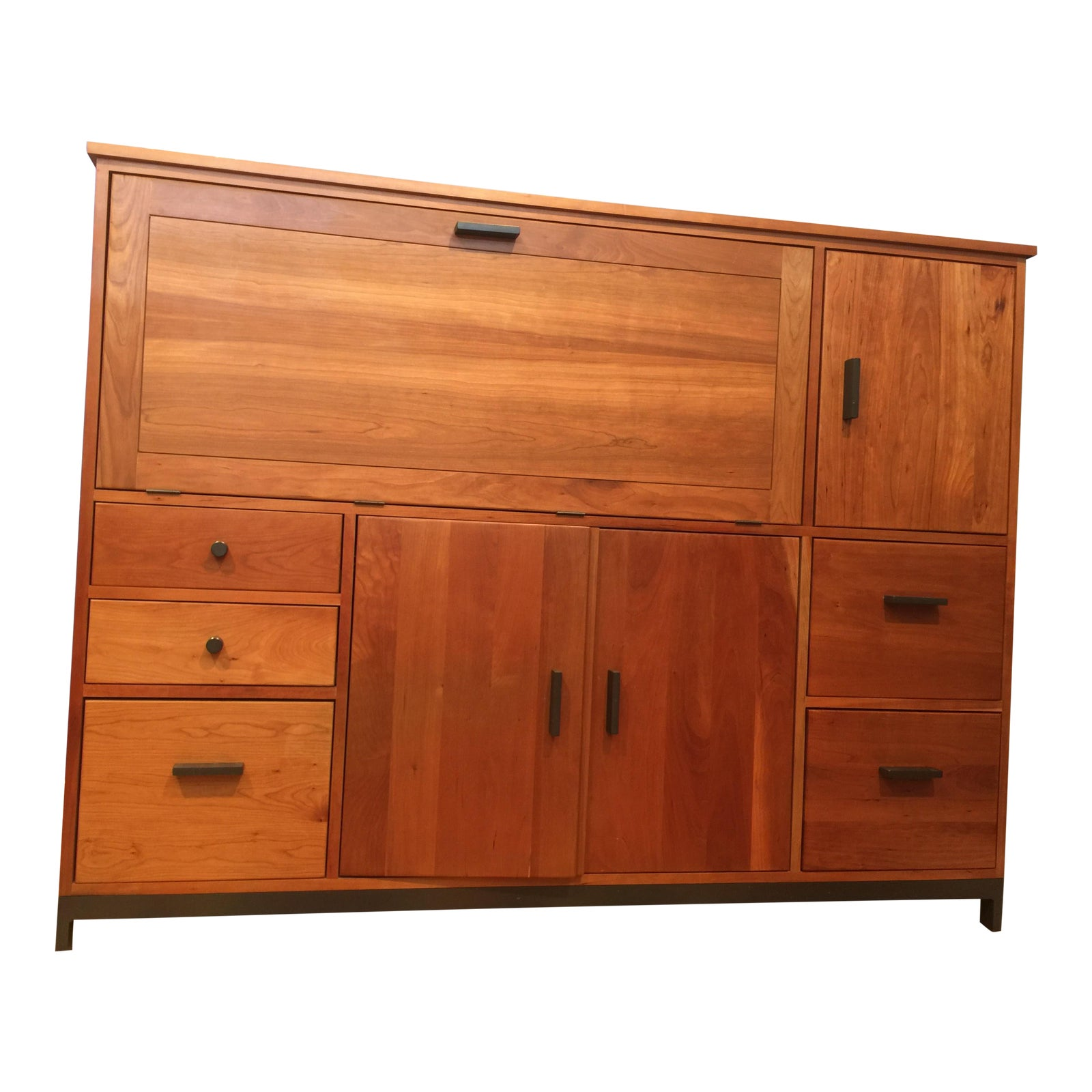 Room & Board Linear Office Armoire - Solid Cherry Wood ...