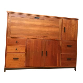 Room & Board Linear Office Armoire - Solid Cherry Wood