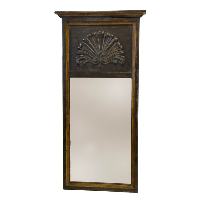 Florentine Black Wood Mirror For Sale In West Palm - Image 6 of 7
